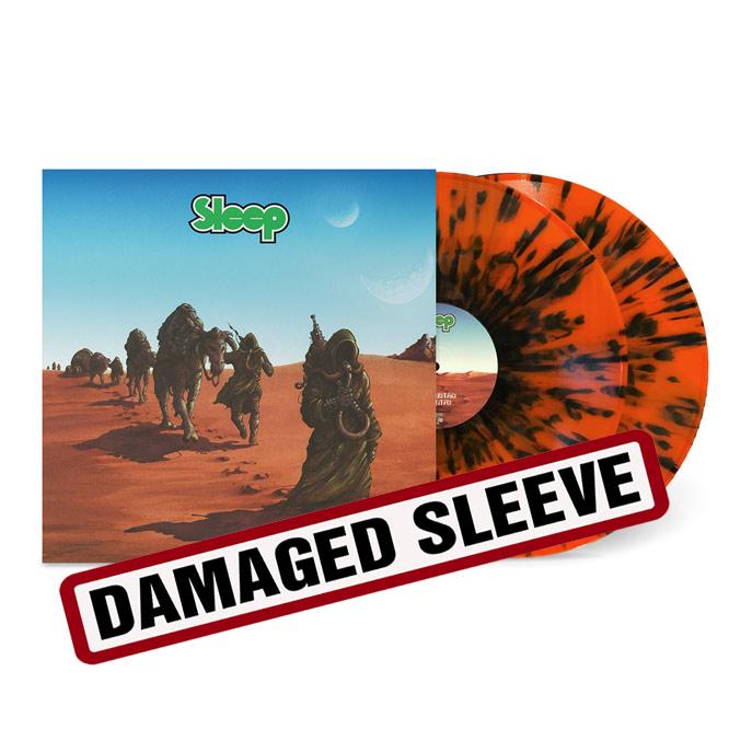 LORD158 Sleep - Dopesmoker Orange Black Splatter Damaged Sleeve