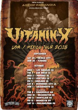 Vitamin X USA Mexico tour