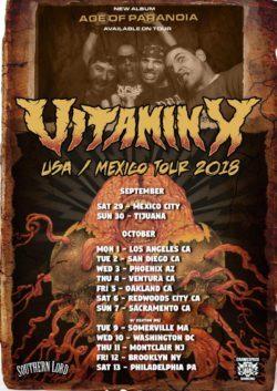 Vitamin X USA Mexico tour