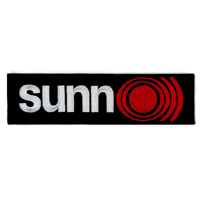 Sunn O))) White, Red and Black Large Logo Patch