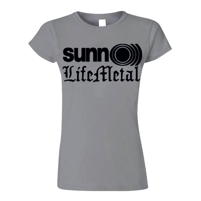 WOMEN'S Life Metal Black on Grey Logo T-Shirt