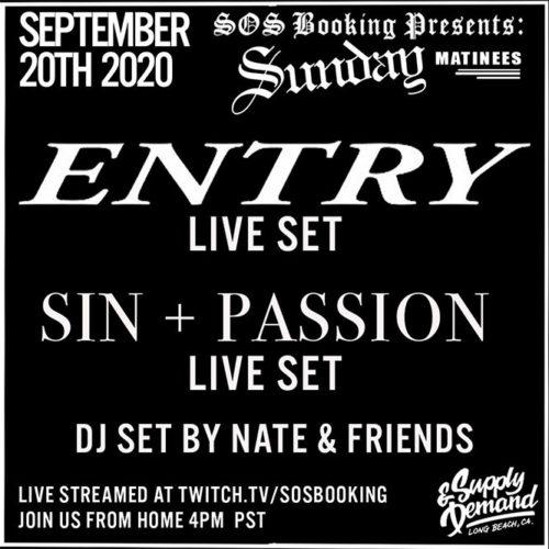 Entry flyer live stream