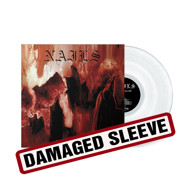LORD172-Nails-Clear Vinyl LP Damaged Sleeve
